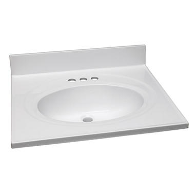 Design House Single Bowl Marble Vanity Top