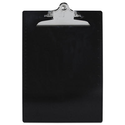 "Saunders - Plastic Antimicrobial Clipboard, 1"" Capacity, Holds 8 1/2""W x 12""H - Black"