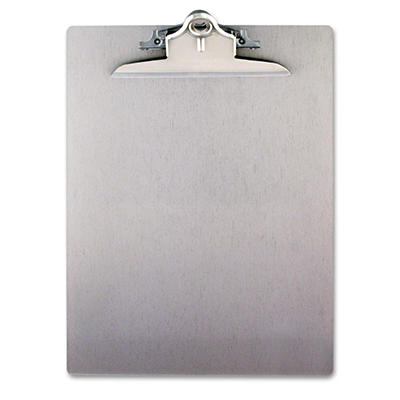 "Saunders - Aluminum Clipboard with High-Capacity Clip, 1"" Capacity, Holds 8 1/2 x 12 - Silver"