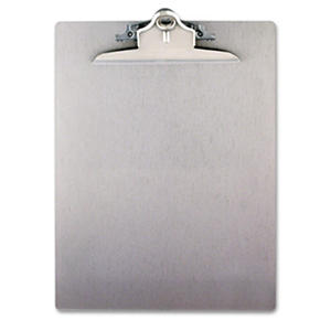 "Saunders Aluminum Clipboard with 1"" Capacity Clip, Holds 8 1/2 x 12 , Silver"