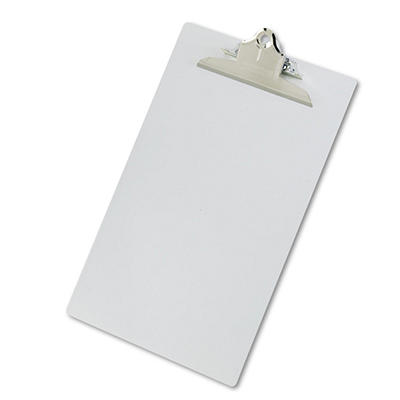 "Saunders Aluminum Clipboard with High-Capacity Clip - 1"" Capacity - Holds 8 1/2"" x 14"" - Silver"
