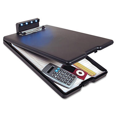 "Saunders Lite N Write Clipboard - 1/2"" Capacity - 8 1/2"" x 11"" - Black"