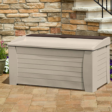 Suncast® Deck Box with Seat and Storage Compartment - 127 gal.