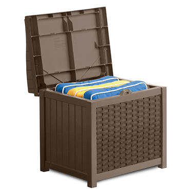 Suncast Wicker 22 Gallon Storage Seat