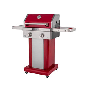 KitchenAid Two-Burner Propane Patio Grill with Cover - Red