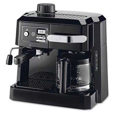 DeLONGHI BCO320T Combination Coffee/Espresso Machine -  Black/Silver