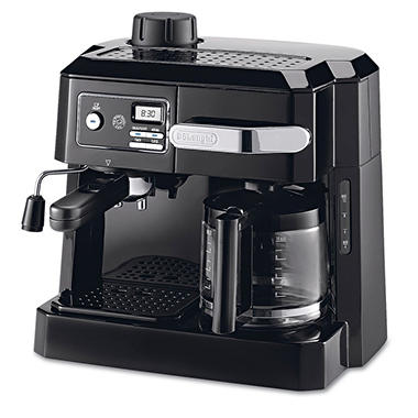 DeLONGHI BCO320T Combination Coffee/Espresso Machine -  Black/Silver