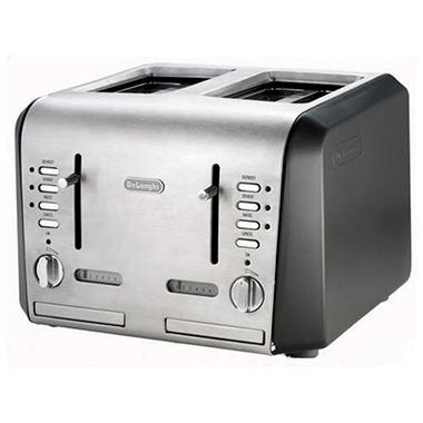 De'Longhi 4-Slice Brushed Aluminum Toaster