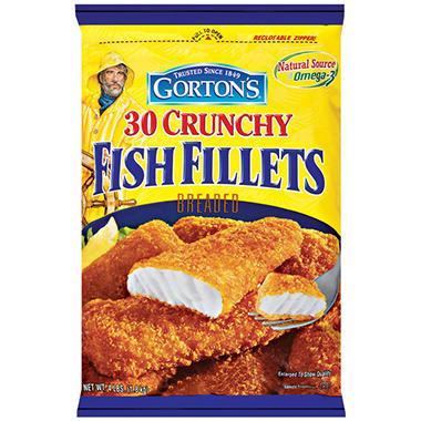 Gorton 39 s crunchy fish fillets 30 ct sam 39 s club for Gorton s frozen fish