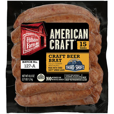 Hillshire Farm American Craft Craft Beer Brats (15 ct, 43.5 oz.)