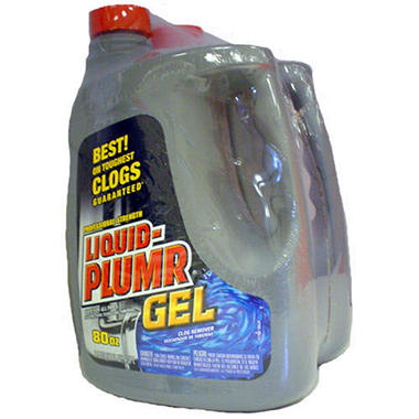 Liquid-Plumr� Gel Clog Remover - 2/80 oz. jugs