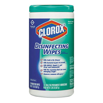 Clorox Disinfecting Wipes - Fresh Scent - 6 pk. - 75 ct. each