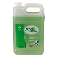 Green Works Manual Pot and Pan Dish Liquid, Original (1 gal. bottle)