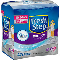 Fresh Step Multi-Cat Scoopable Cat Litter, Scented (42 lbs.)