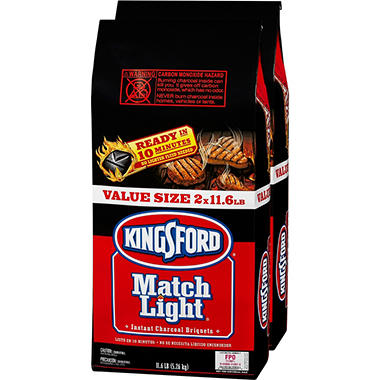 Kingsford Match Light Charcoal (11.6 lb. bags, 2 ct.)