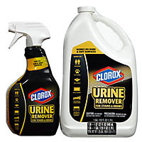 Clorox Urine Remover for Stains & Odors, 32 oz. Spray Bottle and 128 oz. Refill