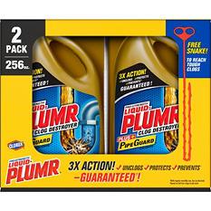 Liquid-Plumr Full Clog Destroyer, Pro-Strength, 2 pk., 128 oz. Bottles