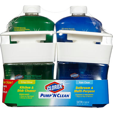 CLOROX PUMP N CLEAN KITCHEN AND DISH CLEANER