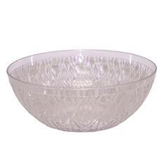 "Crystalike Medium 11"" Crystal-Cut Clear Bowl (5 qt., 12 pk.)"