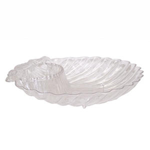 "Crystalike Medium Shell Clear Serving Dish (8"" x 11"", 12 pk.)"