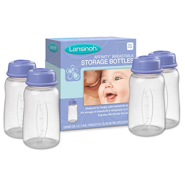 Lansinoh Affinity Breast milk Storage Bottles - 4 pk.