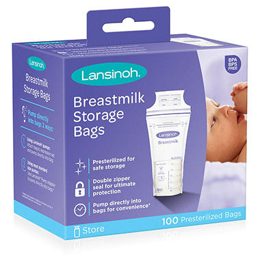 Lansinoh Breastmilk Storage Bags w/Cooler -  100 ct.
