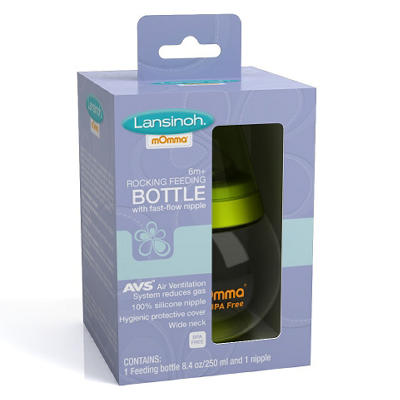 Lansinoh Infant Rocking Feeding Bottle - 8.4 oz.