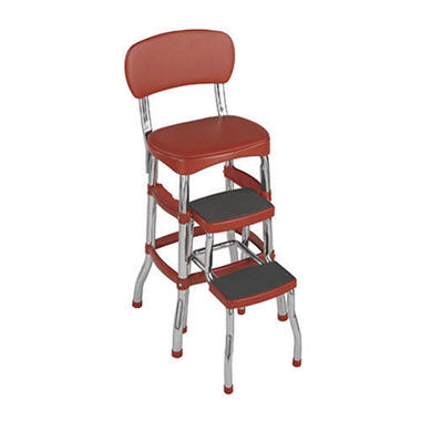 Retro Chair/Counter Stool - Red