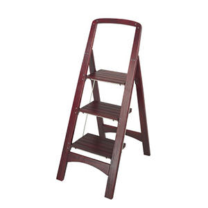 Cosco 3-Step Rockford Mahogany Step Stool