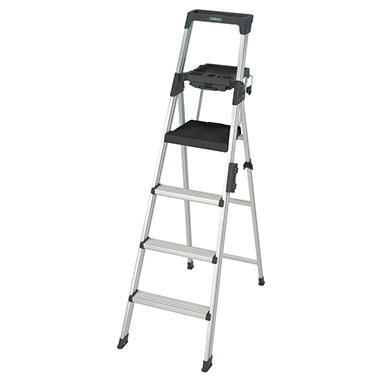 Lightweight Alum. Folding Step Ladder - 6 ft.