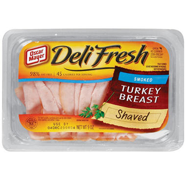 Oscar Mayer� Shaved Smoked Turkey Breast 9 oz. - 3 ct.