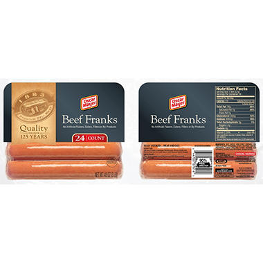 Oscar Mayer Beef Franks - 3 lb. - 24 ct.
