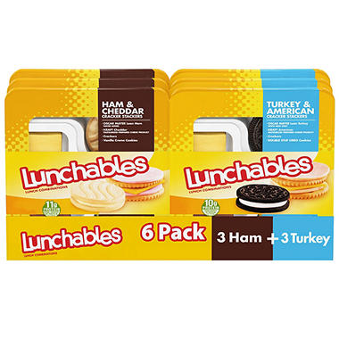 Oscar Mayer Lunchables Variety Pack 6 Ct Sam S Club