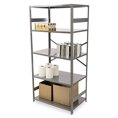 Tennsco - Commercial Steel Shelving, Medium Gray - Various Types and Sizes