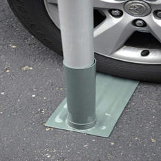 Tire Mount for Large Diameter Flagpole