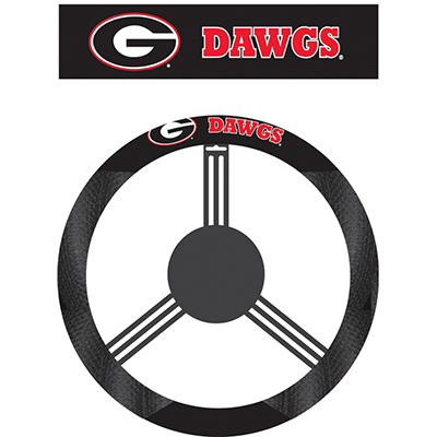 NCAA Georgia Bulldogs Steering Wheel Cover