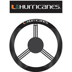 NCAA Miami Hurricanes Steering Wheel Cover