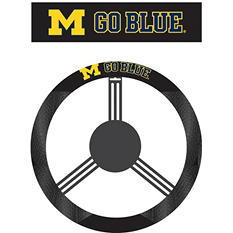 NCAA Michigan Wolverines Steering Wheel Cover