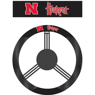 NCAA Nebraska Cornhuskers Steering Wheel Cover