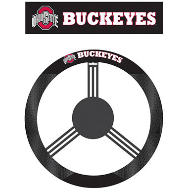 NCAA Ohio State Buckeyes Steering Wheel Cover