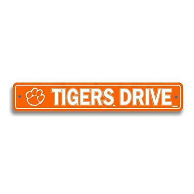 NCAA Clemson Tigers Street Sign