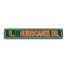 NCAA Miami Hurricanes Street Sign