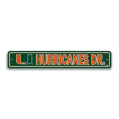 NCAA Miami Hurricanes Street Sign