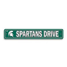 NCAA Michigan State Spartans Street Sign