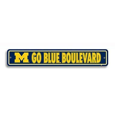 NCAA Michigan Wolverines Street Sign