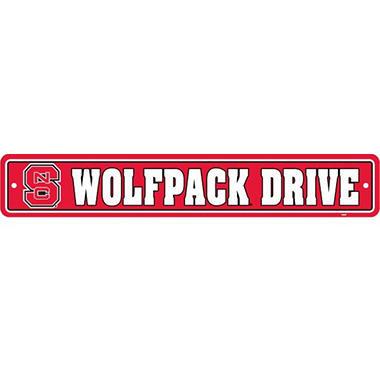 NCAA North Carolina State Wolfpack Street Sign