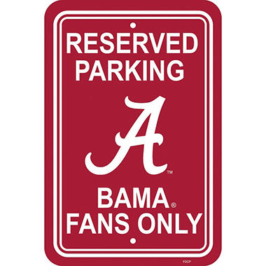 NCAA Alabama Crimson Tide Parking Sign