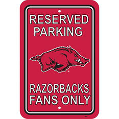 NCAA Arkansas Razorbacks Parking Sign