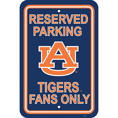 NCAA Auburn Tigers Parking Sign