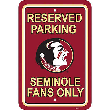 NCAA Florida State Seminoles Parking Sign